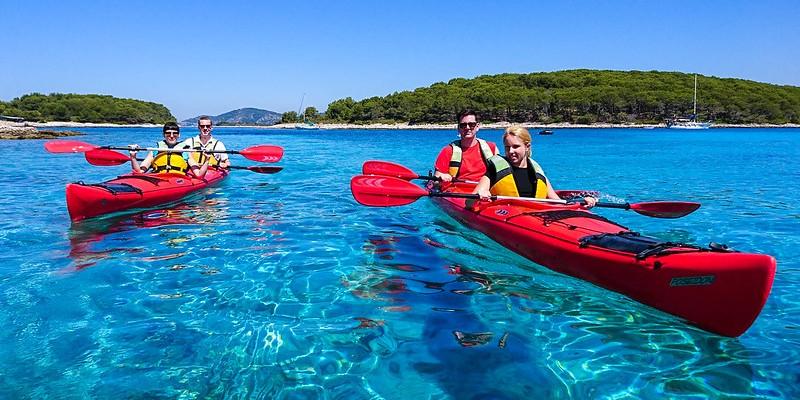 Morning sea kayaking adventure  to Pakleni islands, Hvar