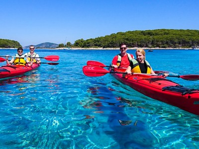 Morning sea kayaking adventure  to Pakleni islands, Hvar