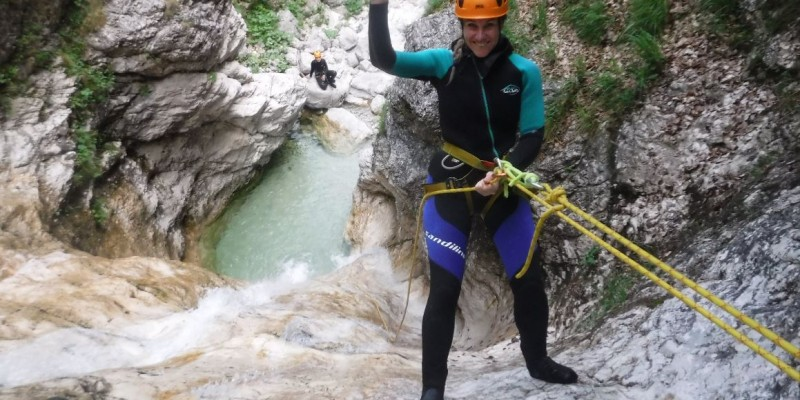 """Extreme canyoning Fratarica in the """"Valley of hundreds of waterfalls"""""""