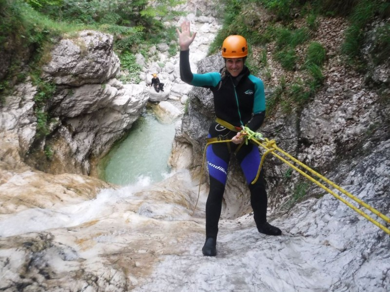"Extreme canyoning Fratarica in the ""Valley of hundreds of waterfalls"""