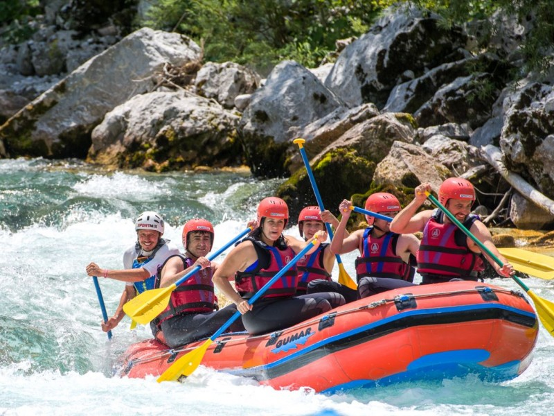 Adrenaline White Water Rafting on Soča River, Bovec, Slovenia