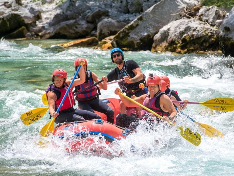 Adrenaline White Water Rafting on Soča River, Bovec, Slovenia