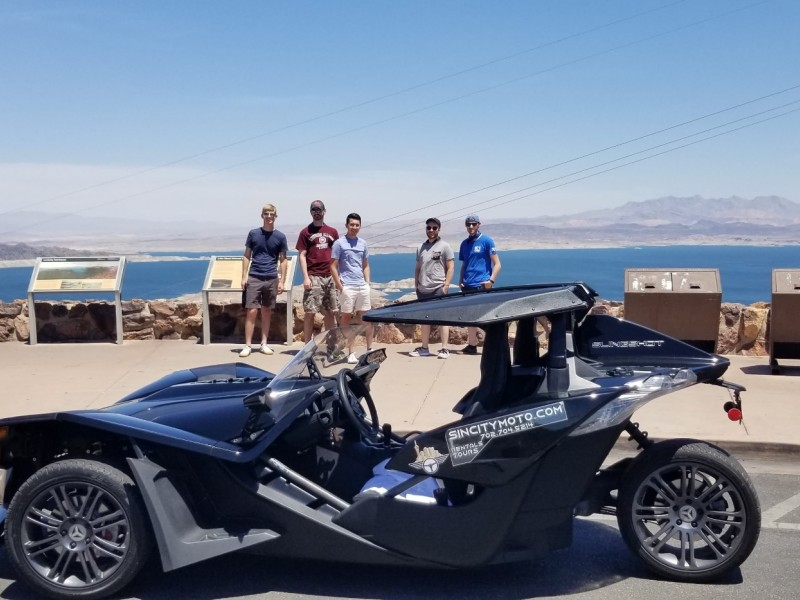 SinCity Moto Guided Tour to Hoover Dam in a Polaris SLingshot