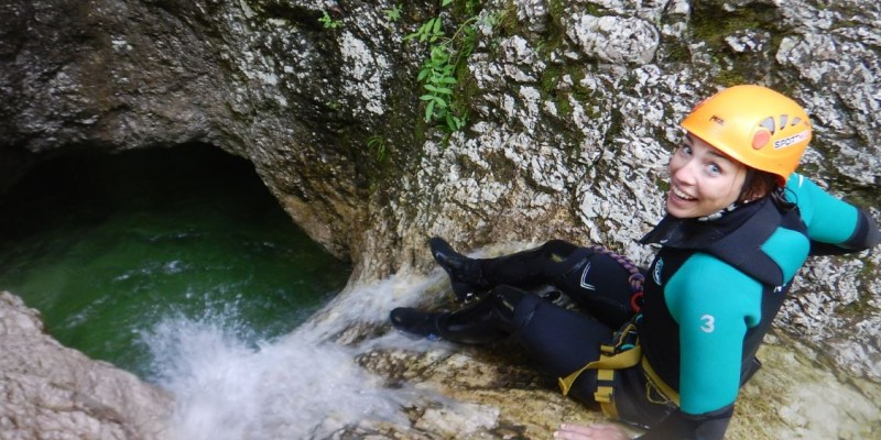 Exciting Canyoning in a Natural Water park Sušec canyon